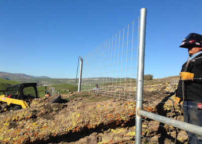 Fence-over-rock